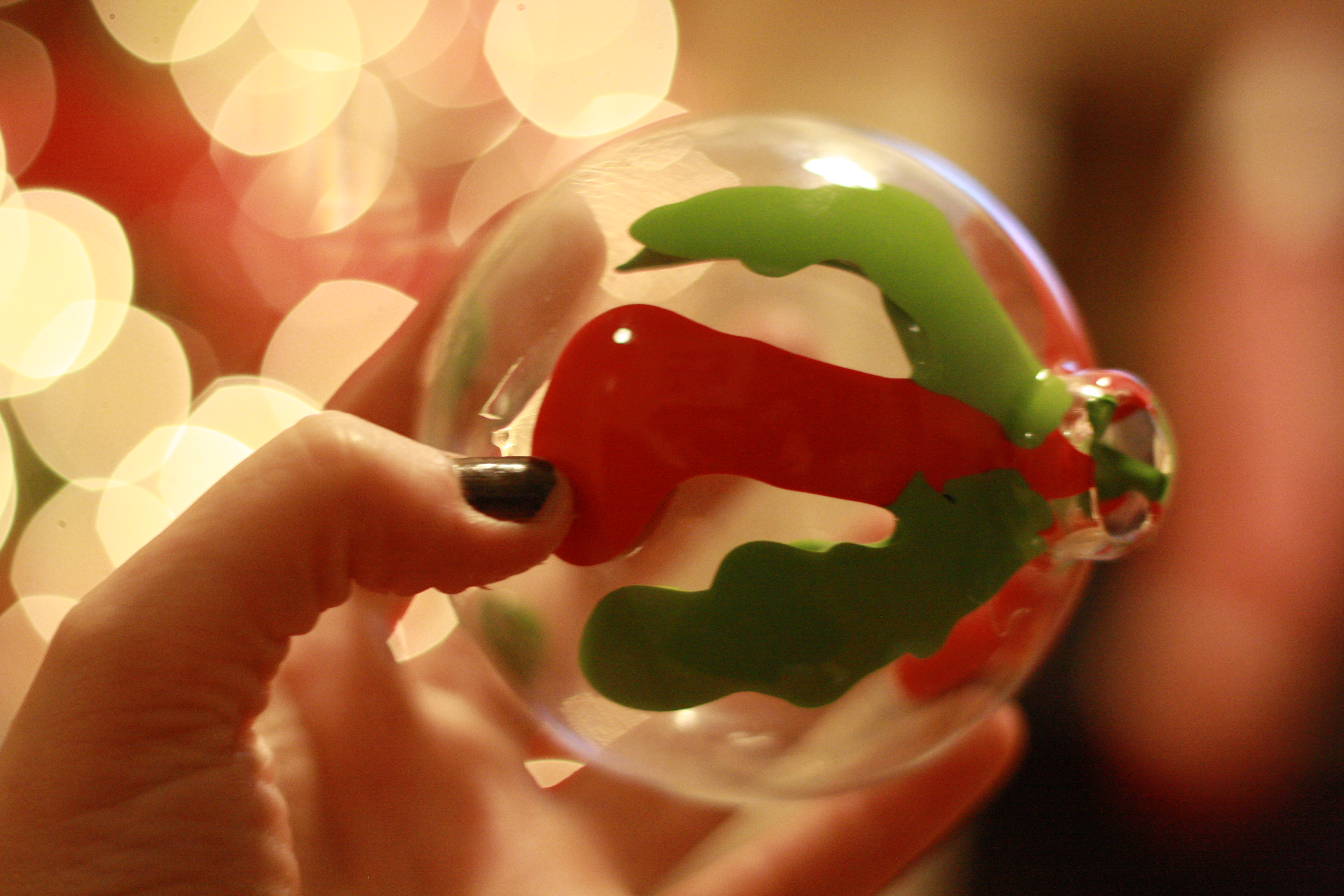 Acrylic clear ornaments - Cover The Opening And Shake The Paint Until The Entire Ornament Is Covered