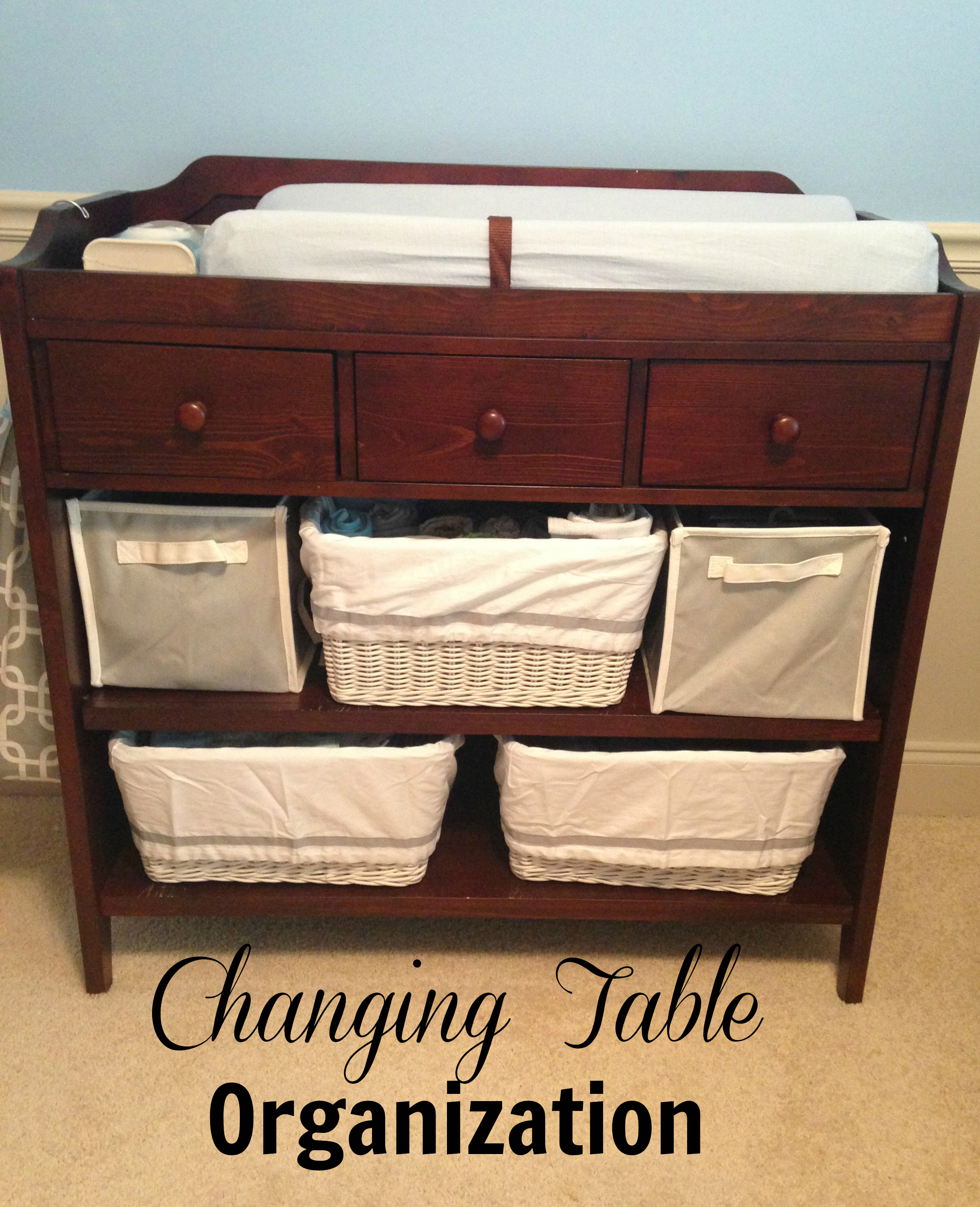 Changing Table Storage Baskets