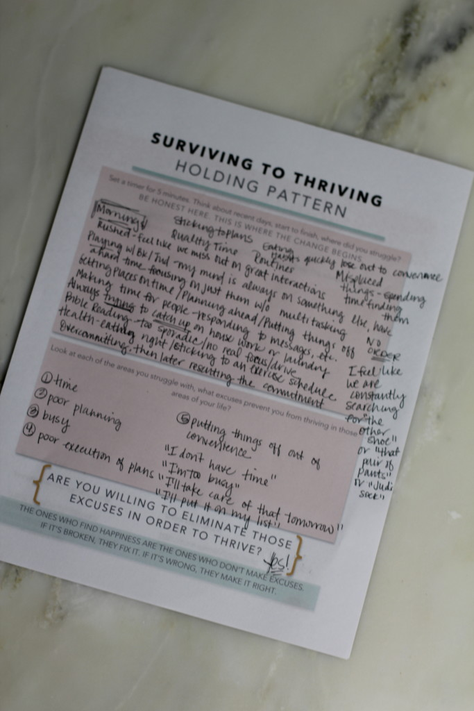 Surviving to Thriving: excuses completed
