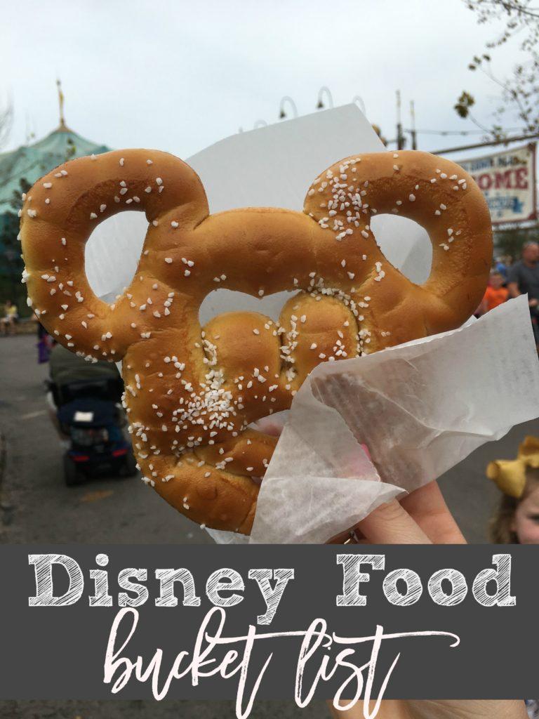 Disney Food Bucket List -- Must eats for Disney World