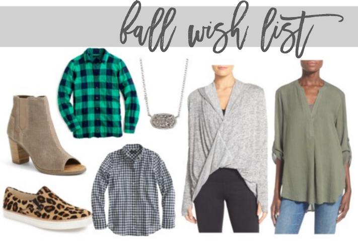 wardrobe wednesday: fall wish list