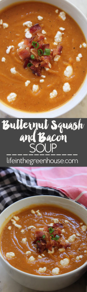 Butternut Squash and Bacon Soup! You're going to want to make this over and over for fall and winter!!