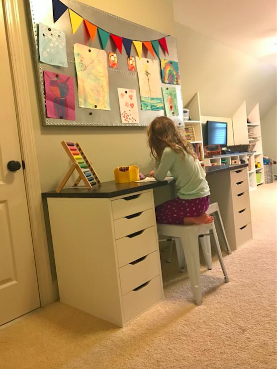 New Playroom Desk